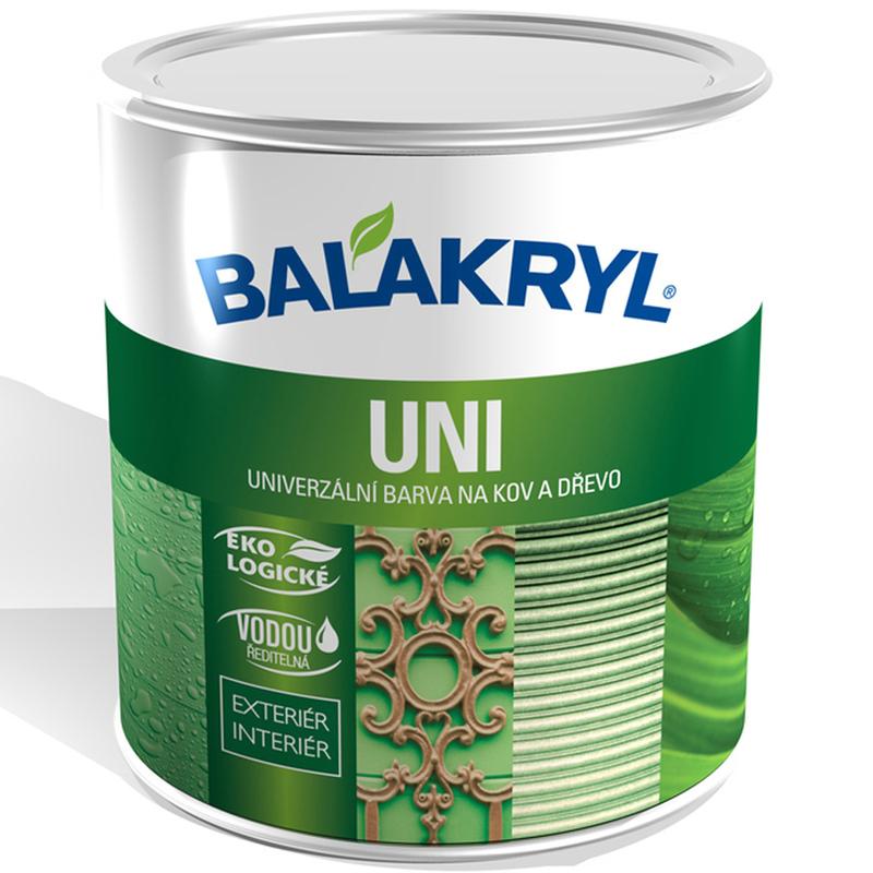 Balakryl Uni satin - univerzálna saténová farba na drevo a kov