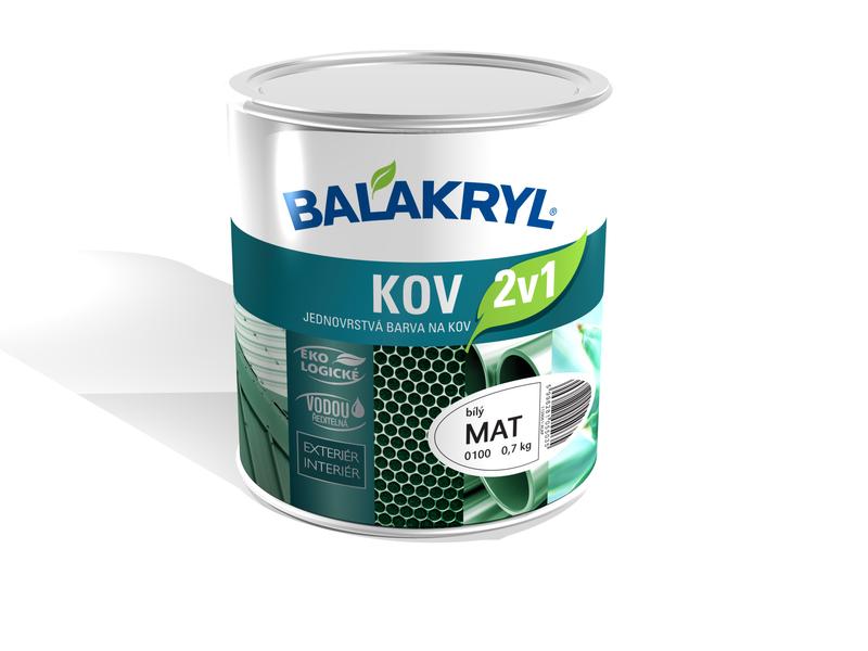 Balakryl Kov 2 v 1 - antikorózna základná i vrchná farba na kov - NOVINKA