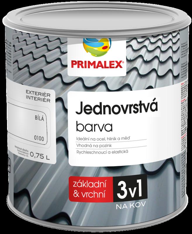 Primalex Jednovrstvá barva na kov 3v1